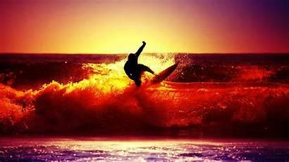 Surfing Sunset Wallpapers Surf Cool Desktop Surfer