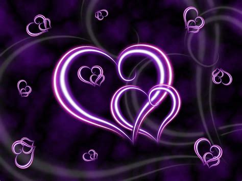 purple heart wallpaper background theme desktop