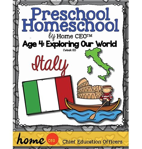 preschool homeschool italy unit 691 | 079646800201471636998.620.655