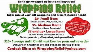 Gift Wrapping Prices Need Opinions