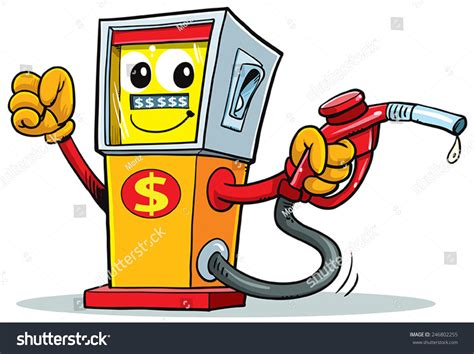 Cartoon Gas Station Stock Vector 246802255