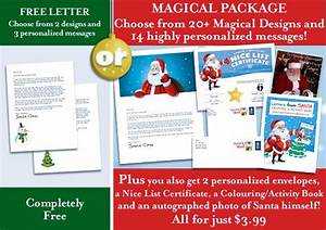 25 best ideas about free letters from santa on pinterest With santa letter packages