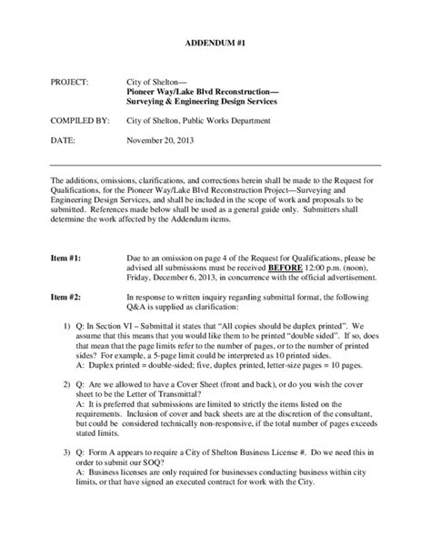 contract addendum template contract addendum template shelton free