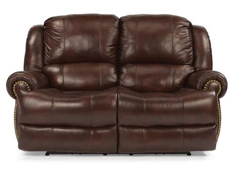 flexsteel living room leather power reclining loveseat 1311 60p furniture grapevine