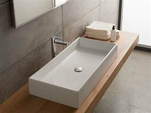 vasque a poser rectangulaire en ceramique teorema 80 by With salle de bain design avec lavabo à poser rectangulaire