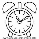 Alarm Clock Coloring Printable Getcolorings Getdrawings sketch template