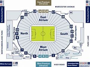 Seating Chart Seat Number Tottenham New Stadium Seating