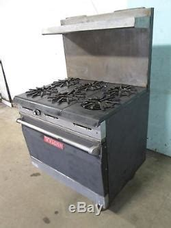 vulcan   commercial   nsf natural gas  burners stove withoven