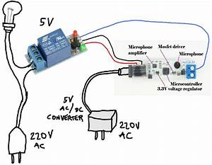 Connect Whistled To 220v Ac Light With A Relay