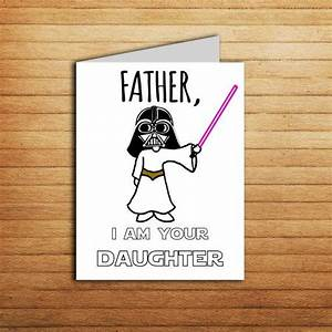 Star Wars card Fathers day card for Dad gift from daughter
