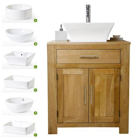 Cheap Bathroom Sink Units by Solid Oak Vanity Unit With Basin Sink 700mm Bathroom