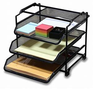 decobros stackable 3 tier desk document letter tray With stackable document trays