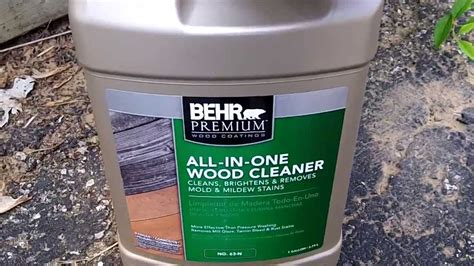 Behr Deck Cleaner And Brightener Directions behr all in one wood cleaner 64 n review and how to use