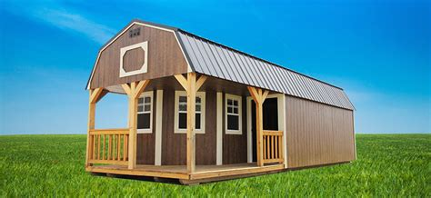 pre built sheds lofted barn cabin shed