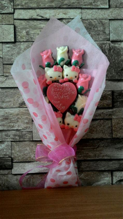 jual buket bunga coklat valentine small  lapak yoan