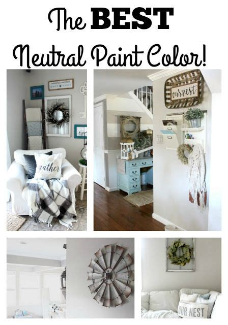 glam farmhouse   neutral paint color
