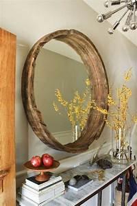 Runde Spiegel Mit Rahmen : spiegel mit holzrahmen praktisch und elegant ~ Bigdaddyawards.com Haus und Dekorationen