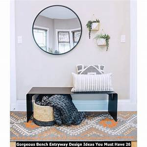 Gorgeous, Bench, Entryway, Design, Ideas, You, Must, Have