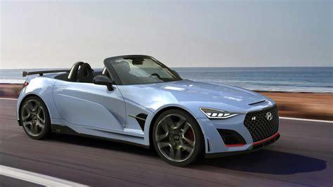 hyundai n roadster rendered as miata fighting sports car
