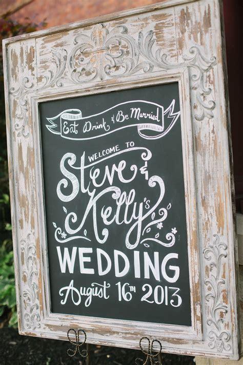 Wedding Chalkboard Welcome Sign Wedding Pinterest