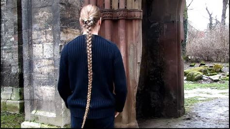 swinging  long hair braid youtube