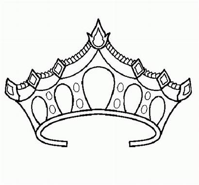 Crown Coloring Princess Tiara Crowns Drawing Tiaras