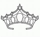 Crown Coloring Princess Pages Tiara Drawing Royal Prince Template Crowns Printable Netart Sheets Sketch King Drawings Pretty Getdrawings Popular Templates sketch template