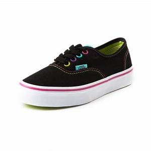 Shop for Youth Vans Authentic Skate Shoe in BlackStitch at