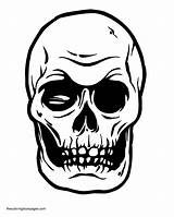 Coloring Skull Pages Crossbones Popular sketch template