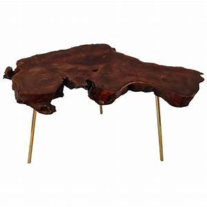 freeform wood slab coffee table in redwood and solid With free form wood coffee table