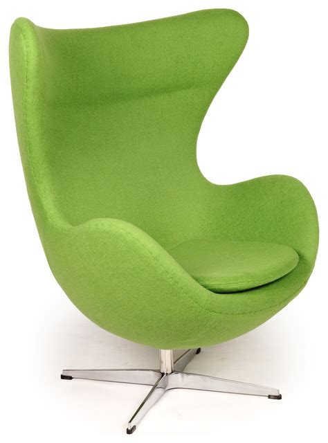 kardiel egg chair apple green boucle wool