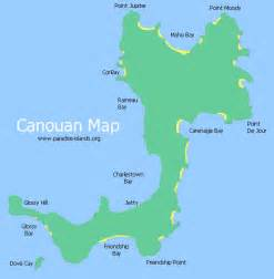Canouan Island Map