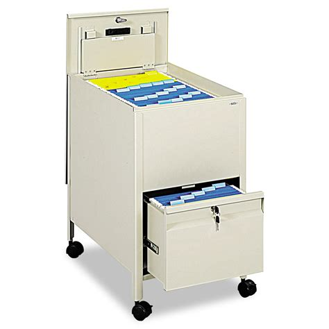 Tub Files by Safco Locking Mobile Tub File With Drawer Letter Size