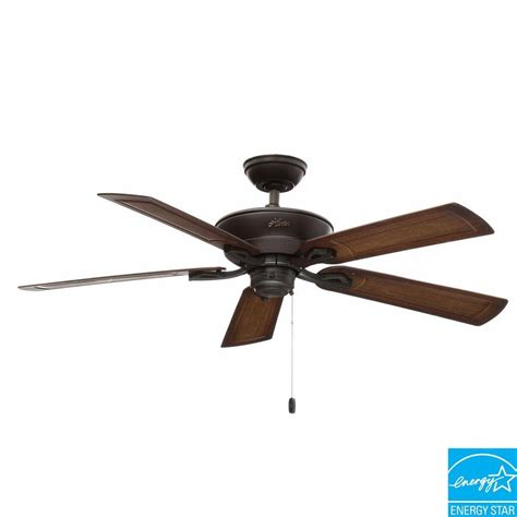 kitchen ceiling fans home depot hunter caicos 52 in indoor outdoor new bronze wet rated