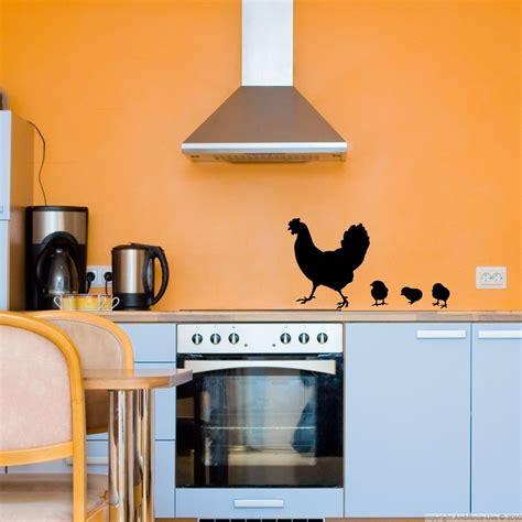 stickers muraux cuisine stickers muraux pour la cuisine sticker poule et poulet