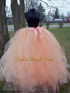 blush or sherbet adult long tutu wedding tutu tulle skirt With how to make a long tulle skirt for wedding dress