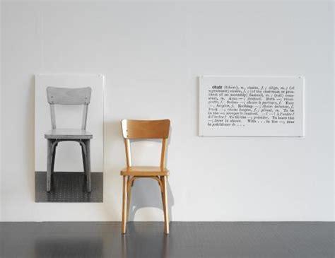 Joseph Kosuth One And Three Chairs Dimensions by L œuvre One And Three Chairs Centre Pompidou