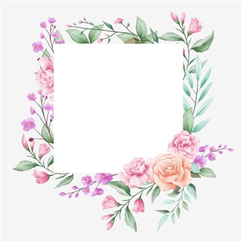 Use address verification service (avs) to verify that the billing address given by the customer matches the address on file with the card issuer. Square Floral Frame For Cards Composition, Card, Floral, Invite PNG and Vector with Transparent ...