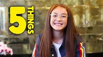 5 Things You Didn't Know About Anna Cathcart - YouTube