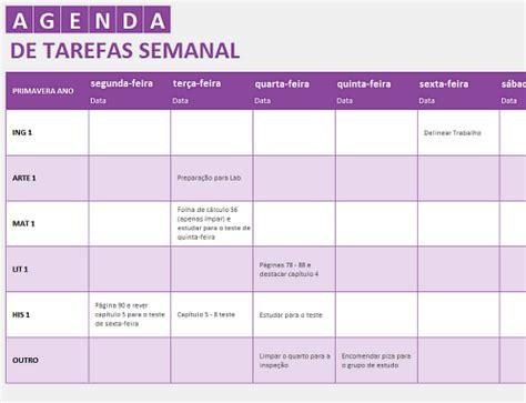 templates excel planeamento de tarefas agenda de trabalho office templates