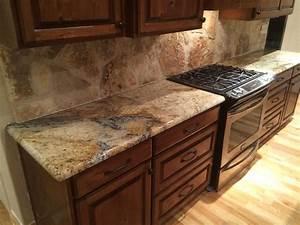 Granit Arbeitsplatten Für Küchen : sienna beige granite kitchen countertops rock backsplash rustic home remodel dark ~ Bigdaddyawards.com Haus und Dekorationen