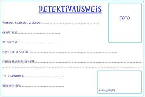 detektivausweis vorlage  geburstags einladungkarten