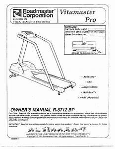 Roadmaster Treadmill Owners Manual
