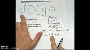 Venn Diagram 2 Circle Survey Problem Without Intersection