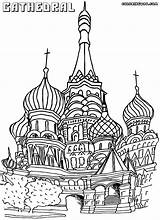Cathedral Coloring Pages Dome Basil Saint Rock Sketch Template Templates Drawings 1000px 18kb sketch template