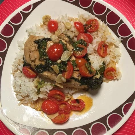 Mediterraneanstyle Chicken With Tomatoes And Crispy Basil