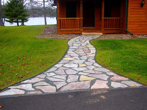 landscaping with flagstone flagstone pea gravel walkway rick gruel landscaping