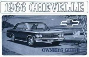 Chevelle  U0026 El Camino 1966 Owner U0026 39 S Manual 66