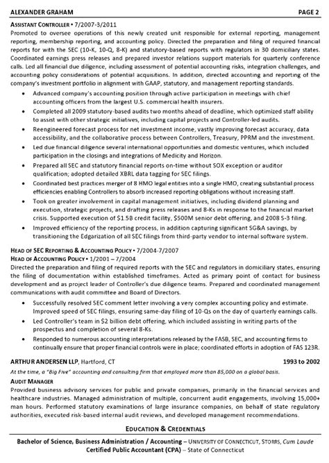 Resume Sample 3  Controller  Chief Accounting Officer