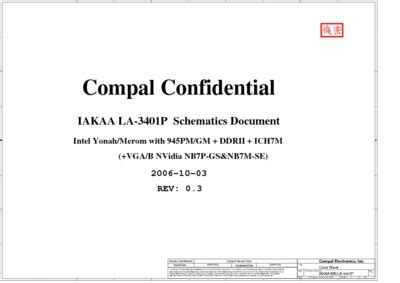 Compal La3401p R03 Schematics, Service Manual, Repair